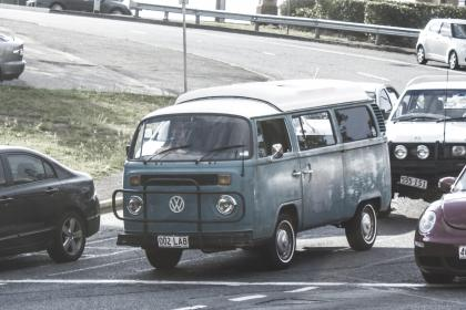 volkswagen, van, vanagon, cars, road, traffic