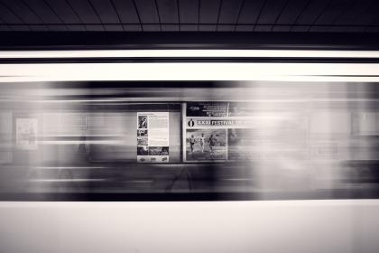 free photo of black and white  subway