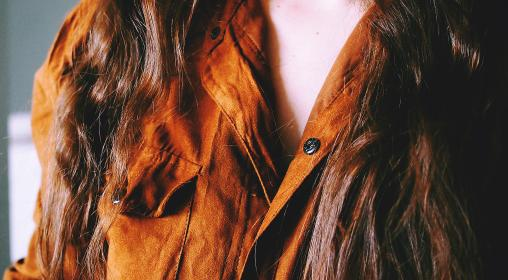 suede, shirt, fashion, clothes, long hair, brunette, girl