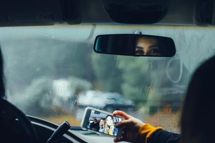 car, drive, glass, raindrops, wet, raining, travel, trip, people, friends, family, outing, bonding, vacation, mobile, phone, camera, selfie, photography