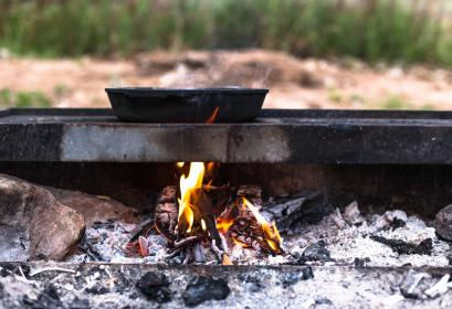 steel, grill, pan, fire, firewood, hot, charcoal, flame, heat, burn, rock, ash, outside, camping, outdoor