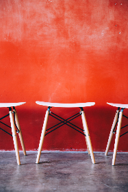 modern,  stools,  cafe,  chairs,  red wall,  texture,  seats,  indoors,  restaurant,  minimalist,  simple,  clean,  design,  furniture,  room,  style
