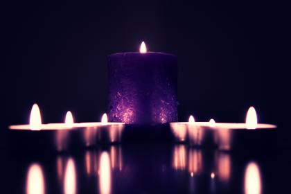 dark, candle, light, fire, night, blur, flame, reflection
