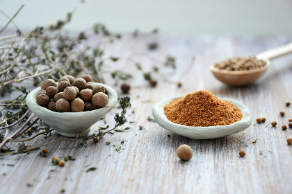 spices,   ingredients,   seasoning,   pepper,   seeds,   nutmeg,   cuisine,   food,   cooking,   clay cups