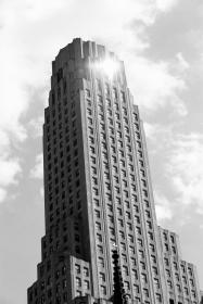 building, tower, high rise, city, architecture, black and white