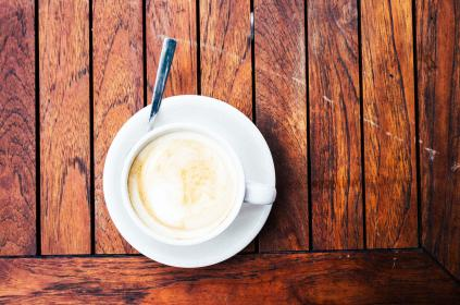 coffee, latte, cappuccino, wood, table, cafe