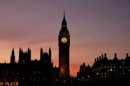 architecture, building, infrastructure, big ben, london, landmark, sunset, cloud, sky