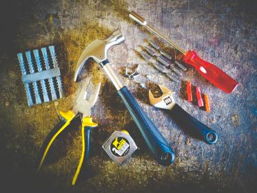 tools, hammer, screwdriver, table, pliers, screw