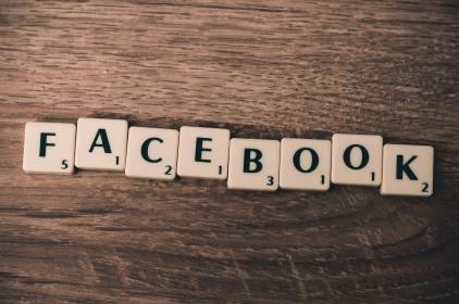 facebook, social media, marketing, business, scrabble, wood