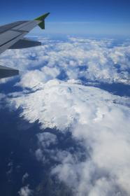 airplane, wing, flight, flying, travel, transportation, sky, above the clouds, Andes mountains, Chile, peaks, snow