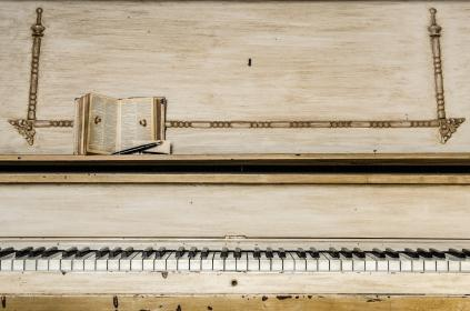 music, instruments, piano, keys, books, black, white, wood