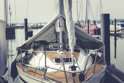 still, items, things, yacht, boat, dock, pier, sail, lines, nautical