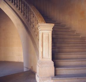 staircase, stairs, steps, railing, architecture, stones, concrete, buildings