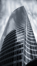 skyscaper,  office building,  city,  building,  tall,  downtown,  architecture,  monochromatic,  reflection,  modern, downtown, urban, glass, building, exterior
