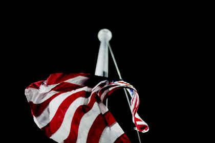 flagpole, american, flag, red, stripes