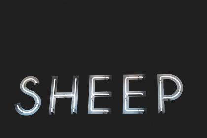 letters, font, sheep, light, dark, black and white