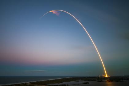 rockets, rocket ship, space, shuttle, sunset, dusk, sky, lights