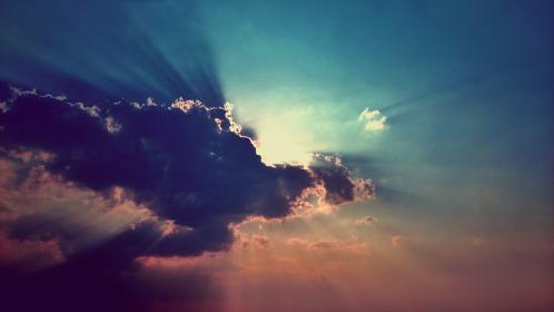 clouds, sunset, sunlight, dusk, sky, dark, darkness, sunshine