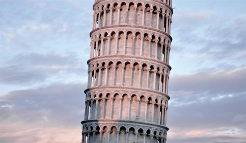 Leaning Tower of Pisa, architecture, Italy, history, sky, clouds