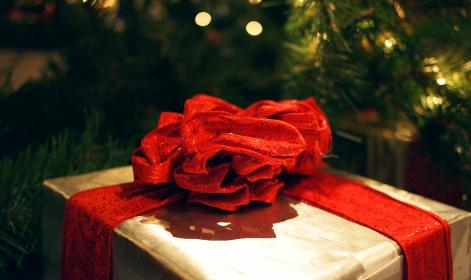 present, gift, red, bow, ribbon, wrapping, Christmas, xmas