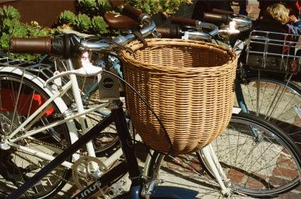 bikes, bicycles, basket, handlebars, tires, chains, frame, seat