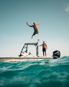 free photo of man    jumping