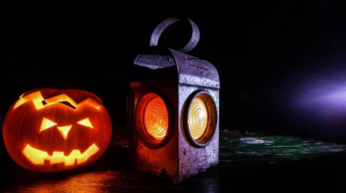 halloween, pumpkin, lantern, dark, night, scary, spooky