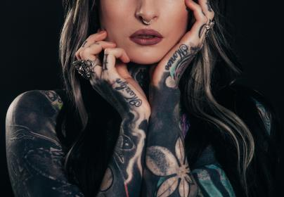 people, girl, body, tattoo, skin, art, ring, earrings