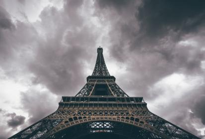 architecture, structure, eiffel, tower, nature, sky, clouds, perspective, industrial, paris, france