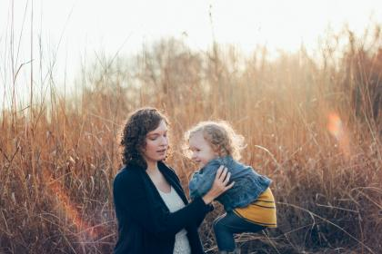 grass, sunlight, outdoor, nature, mother, baby, daughter, kid, child, woman, travel
