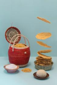 food, picnic, basket, bowl, plate, corn, chips