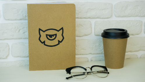 coffee,   glasses,  book, notepad, white wall, white, wall, brick, minimal