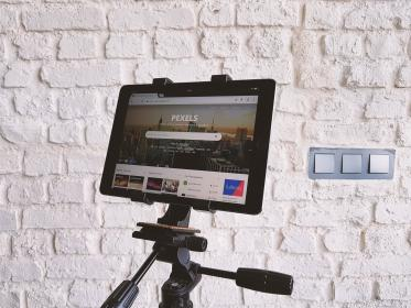 technology, tablet, tripod, pexels, website, design, wall, black, internet, wall