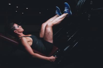 girl, woman, fitness, exercise, gym, weights, leg press, people, health, athlete