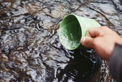 river, water, stream, cup, outdoors, nature