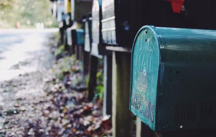 mailboxes, letters