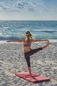 yoga, relax, chill, meditation, water, ocean, sea, beach, sand, waves, clouds, sky