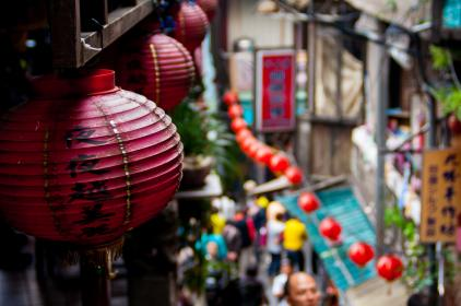 travel, destination, roads, path, streets, alleys, chinese, lanterns, signage, people, city