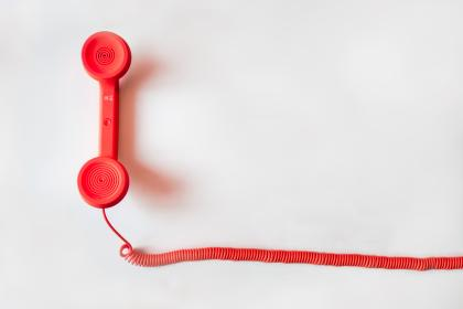 red, telephone, cord, business