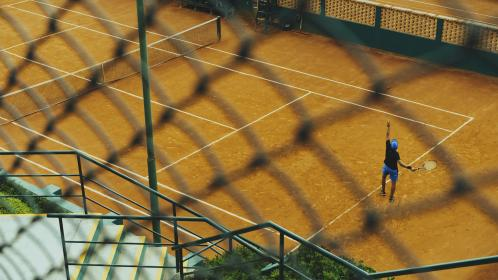 lawn, tennis, sport, game, court, fitness, exercise, people, play, man, athlete