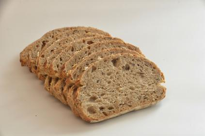 bread, food, snack, slice, oat, meal, white, table