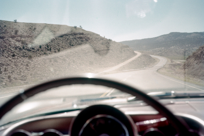 highway,   car,   vintage,   road,   america,   landscape,   auto,   horizon,   travel,   film,   photography,   retro,   usa,   sky,   dashboard,   old,   mountains,   clouds,  steering,  wheel