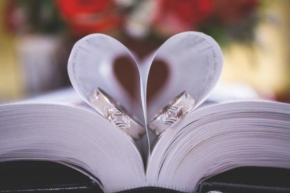 book, bible, wedding, ring, heart, love, church, forever, couple, marriage