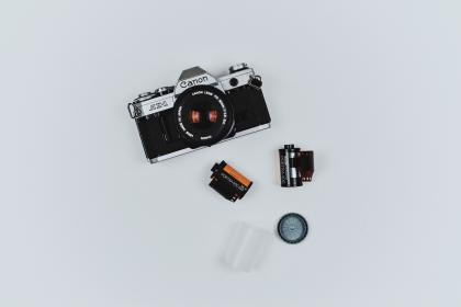 camera, lens, accessory, photography, film, business office, desk