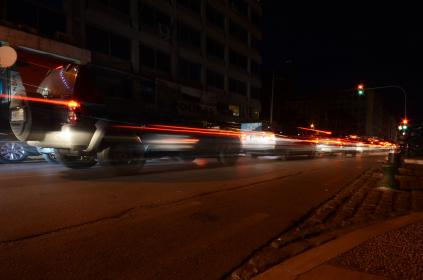 traffic, lights, cars, brakes, road, street, night, dark