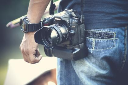 people, man, alone, camera, dslr, photography, photographer, jeans, pocket, watch