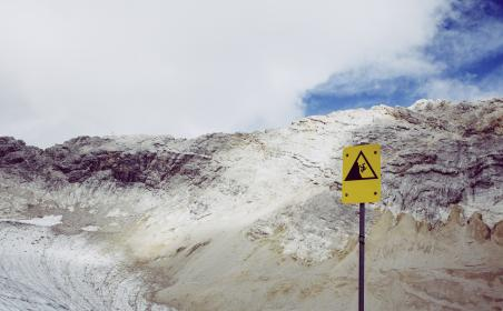 nature, mountain, summit, peaks, sign, sky, clouds, white, blue