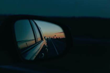 car, vehicles, side, mirror, reflection, sky, clouds