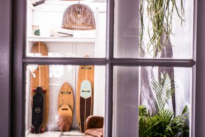 room, collections, sport, display, skateboard, wooden, surfing, board