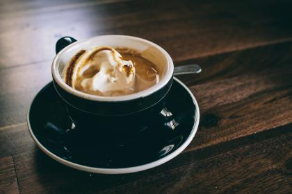 coffee, cafe, latte, cappuccino, whipped cream, cup